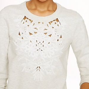 (2/$20) J. Crew floral embroidered sweater